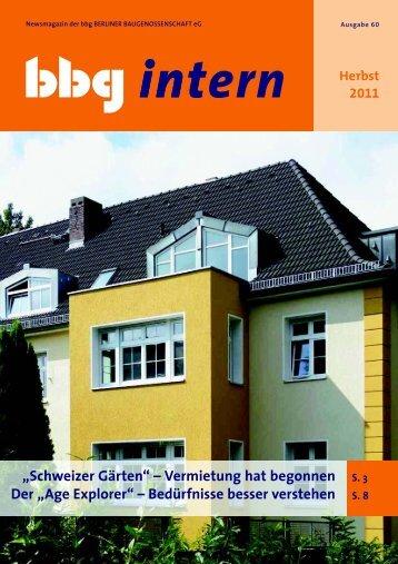 bbg intern 60 - Berliner Baugenossenschaft eG