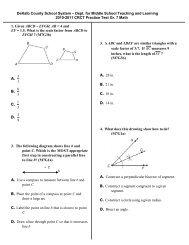 2010-2011Math CRCT Practice Test Gr. 7 Math 2 - Ensuring Access ...
