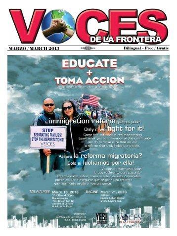 MARZO / MARCH 2013 - Voces De La Frontera