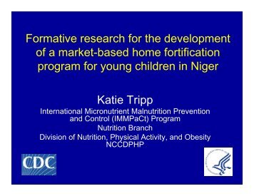 Formative research for the development of a ... - The iLiNS Project