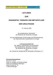 leitlinien zur diagnostik, therapie und metaphylaxe ... - Urologenportal