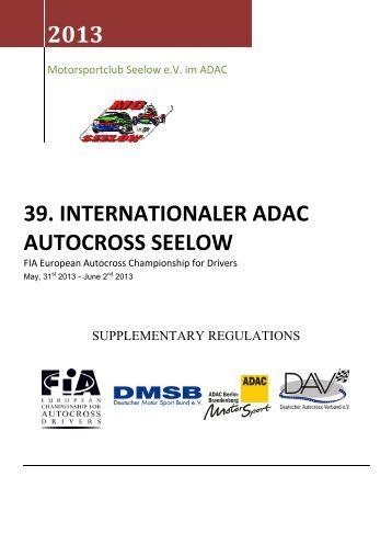Ausschreibung / Suplementary Regulations, .pdf - Autocross-EM