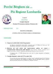 Più Regione Lombardia - LEGA NORD Blog - Sezione di Bergamo