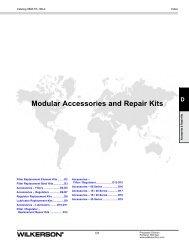 Accessories & Repair Kits - Wilkerson Corporation