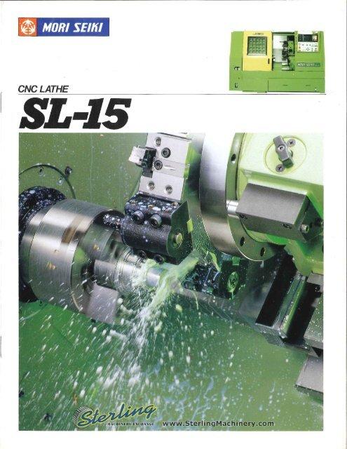 Mori Seiki CNC Lathe SL 15 Brochure - Sterling Machinery