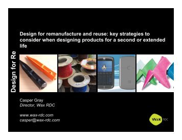 Key strategies to consider when designing products for a second or ...
