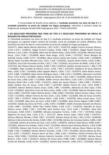 PAS 1 _ Res. prov itens tipo D e redação