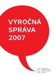 2007 – Výročná správa VŠVU - Vysoká škola výtvarných umení