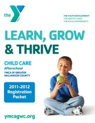 CHILD CARE ymcagwc.org - YMCA of Greater Williamson County