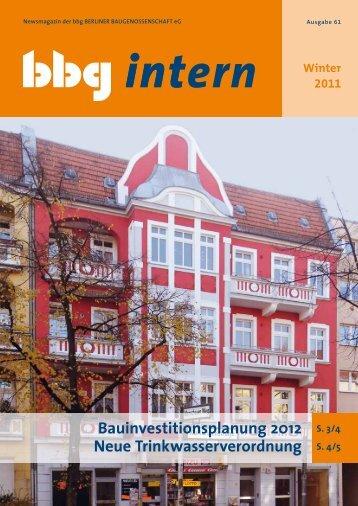 bbg intern 61 - Berliner Baugenossenschaft eG