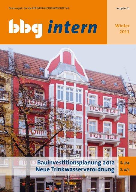 Bbg Intern 61 Berliner Baugenossenschaft Eg