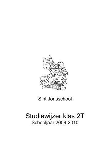 Studiewijzer klas 2T - St. Jorisschool Nijmegen
