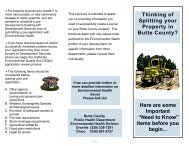 Property Development Brochure - Butte County