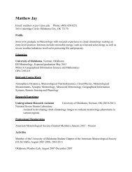 Curriculum Vita - University of Oklahoma