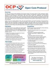OCP 2.2 Datasheet - OCP-IP