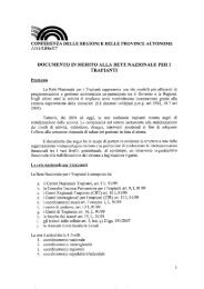 documento in merito alla rete nazionale per i trapianti - Conferenza ...
