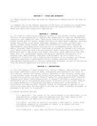 Subdivision Regulations - Town of Vernon