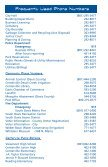 Frequently Used Phone Numbers - Centerville - Page 2