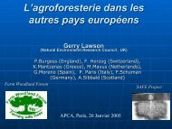 L'agroforesterie dans les autres pays européens - INRA Montpellier