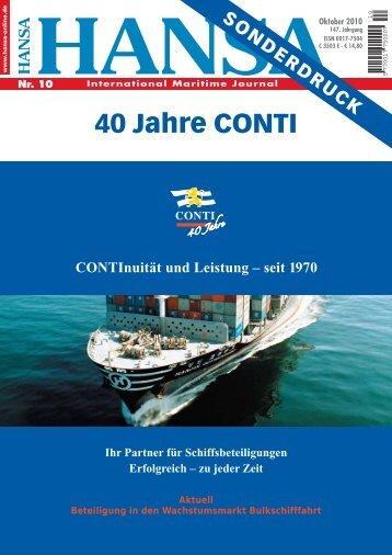 40 Jahre CONTI - CONTI Unternehmensgruppe
