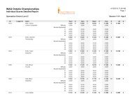 2012-2013 Women's Artistic Ontario Championships Individual ...