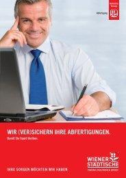 Folder Abfertigung - Wiener Städtische
