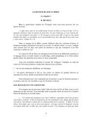 1 LE RETOUR DE JÉSUS-CHRIST Le chapitre 1 IL REVIENT Dans ...