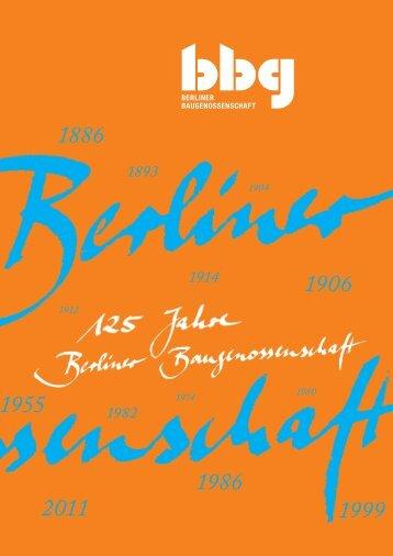 1886 - Berliner Baugenossenschaft eG