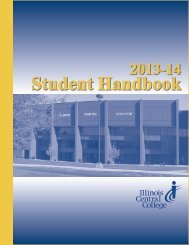 Student handbook - Illinois Central College