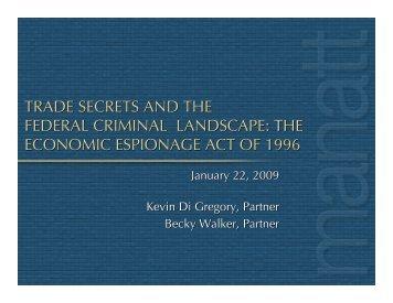 Trade Secret Theft the EEA