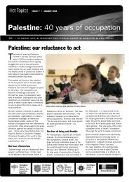 Palestine-40 years of Occupation - Christian World Service