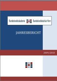 Jahresbericht 2009/10 - BHAK/BHAS Horn