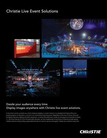 Christie Live Event Solutions - Christie Digital Systems