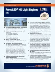 PrevaLED® HD Light Engines - Osram Sylvania