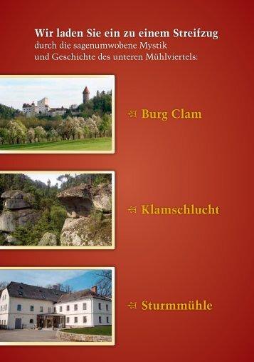 Burg Clam Klamschlucht Sturmmühle - Mühlviertel pur