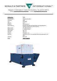 dh800 - 30 kw universalzerkleinerer - Schulz + Partner International