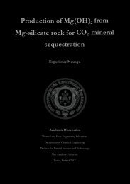 Production of Mg(OH)2 from Mg-silicate rock for CO2 ... - Åbo Akademi
