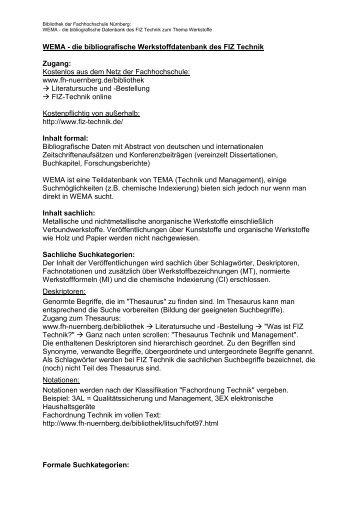 WEMA - Georg-Simon-Ohm Hochschule Nürnberg