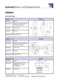 Datenblatt Adapter - Schmidt - Mess- und Regeltechnik