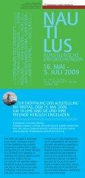 16. MAI – 5. JULI 2009 - Städtische Galerie Nordhorn