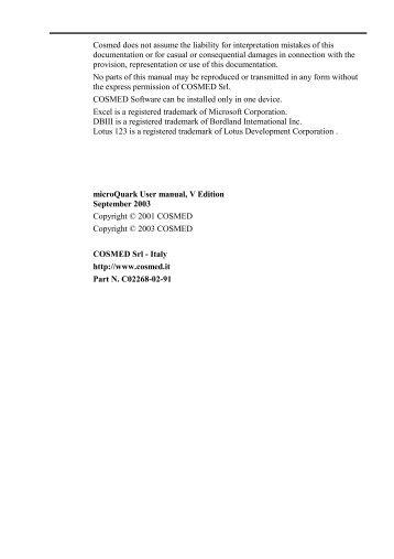 cosmed pony fx user manual pdf frank s hospital workshop rh yumpu com User Manual Template Best User Manual