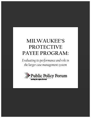 milwaukee's protective payee program - Public Policy Forum