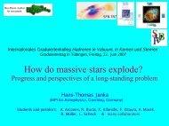 How do massive stars explode? - Internationales Graduiertenkolleg ...