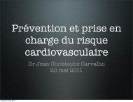 Prévention et prise en charge du risque cardiovasculaire