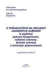 O požadavcích na projekt jaderných zařízení BN-JB-1.0 - SÚJB