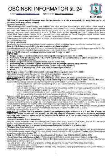 Obcinski informator st. 24 - Občina Vransko