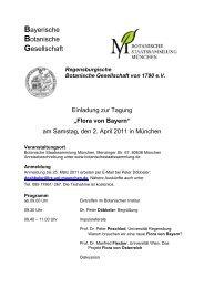 Flora von Bayern - Botanischer Informationsknoten Bayern