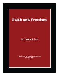 Faith and Freedom - Baptist Theology