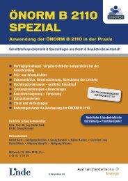 ÖNORM B 2110 SPEZIAL - Linde Verlag