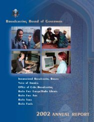 BBG 2002 Annual Report/web - Broadcasting Board of Governors